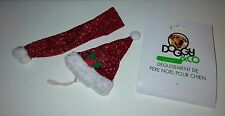 Costume/Déguisement Père Noël pour Chien - Rouge à paillettes - Taille S