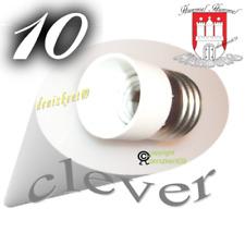 10 Adapter Reduzier. E27 auf E14 für Kerze Birne Lampe LED E27 Halogen Sparlampe