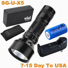 Mini CREE Q5 LED TACTICAL Rechargeable 16340 Battery Flashlight Light Torch TG8