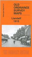OLD ORDNANCE SURVEY MAP LLANDAFF 1915