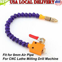Mist Universal Coolant Spray System For 8mm Air Pipe Lathe Mill Drill Cooling US