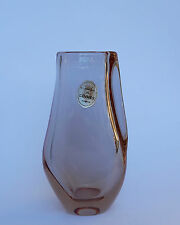 SEVRES Glasvase Farbe wechselnde Kristallvase Vase France 60er signiert