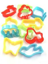 Childrens Plastic Dough Cutters Animal Shapes Pastry School x 12