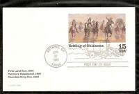 US SC # UX130 Settling Of Oklahoma Postal Card FDC. Ready For Cachet