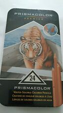 NIP Prismacolor Premier 24pc Water-Soluble Colored Pencils in Tin -Item# 1792240