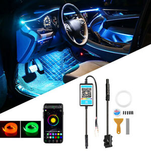 3M RGB LED Car Interior Lamp Ambient Light Strips App Control For Mercedes Benz
