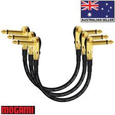 3 Units - 22cm Mogami 2319 - Guitar Pedal Effects Instrument Patch Cables