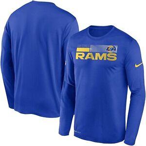 Los Angeles Rams Nike Youth Boys Sideline Impact DRI-FIT Long Sleeve Shirt