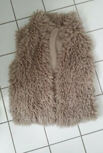 Marc Cain Sports Weste Faux Fake Fur Lammfell - Optik N4