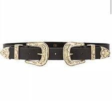 B-Low The Belt Baby Bri Bri Black Leather Belt Sz L NWOT