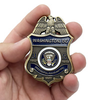 President Donald J. Trump Presidential Inauguration full size with pin back EL9-
