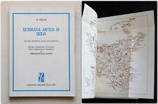 Adolfo Holm GEOGRAFIA ANTICA DI SICILIA 1984 note documenti carta litografica