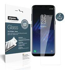 2x Samsung Galaxy S8 Schutzfolie - Folie Glasfolie 9H  dipos Glass Displayfolie