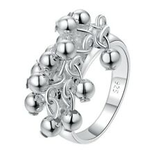 High Quality 925 Sterling Silver Plated Grapes Charm Ring Fine Jewelry For Gift