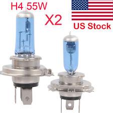 2 x H4 6000K Xenon Gas Halogen Headlight White Light Lamp Bulbs 55W 12V US