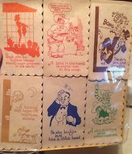 Vintage House of Paper Cocktail Lafkins - Asst. 6 designs R