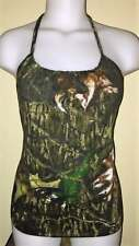 Ladies Cammo Camouflage Reconstructed Hunting Shirt Halter Top DiY