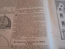1907 Baugewerkszeitung 24  / Haus Buchhändler Wiegand Holzminden