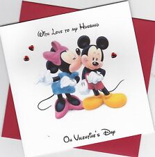 Personalised Handmade Mickey & Minnie Mouse Valentine Card