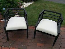 Pair of Lorin Jackson for Grosfeld House Circa 1940 Lattice Chairs