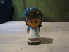 Fisher Price Little People Restaurant Pizza shop Mia Girl blue flower dress lady