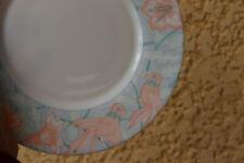 6 Platos Para Postre En Arcopal Vintage Motivos Flores Colibri Hibisco