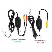 Wireless AV Cable Video Transmitter & Receiver for Car RCA Camera Backup Monitor