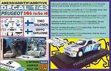 ANEXO DECAL 1/43 PEUGEOT 205 T16 E2 T.SALONEN ACROPOLIS R. 1985 WINNER (01)