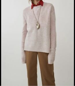 ACNE STUDIOS Wool Deniz Sweater In Light Pink