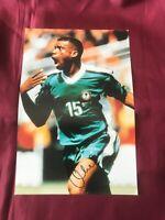 Autogramm SUNDAY OLISEH-Nationalteam NIGERIA-Großfoto handsigniert-Ajax/BVB/Köln