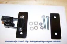 Fahrradanhängerkupplung mit Anbauplatte 150mm Lang+Gegenplatte E-Bike schwarz