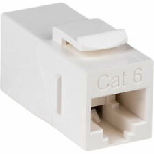 Cat 6 Right Angle Inline White Coupler with Keystone Latch