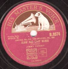RARE BOOGIE PIANO JIMMY YANCEY 78 MELLOW BLUES / SLOW AND EASY BLUES HMV B9374 E