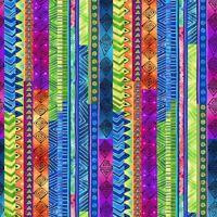 Fabric Celestial Magic African Stripes LAUREL BURCH Cotton 1/4 yard Y3163-55