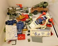 LOT OF 70+ GI JOE - Vintage 1980s - VEHICLE PARTS ACCESSORIES LOT - SEE PICS!