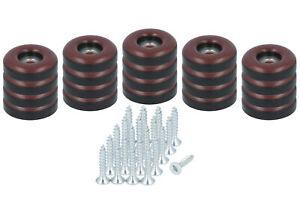 20 x Teflongleiter zum Schrauben 22 mm Stuhlgleiter braun PTFE Möbelgleiter