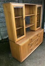 SUPERB RETRO WINDSOR  ERCOL  GLAZED BOOKCASE/CABINET VERY CLEAN  2 MAN DELIVERY