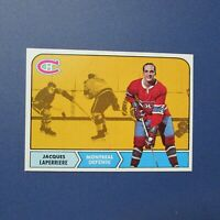 JACQUES  LAPERRIERE  1968-69 TOPPS  # 58  Montreal Canadiens  1969  68 69  NM/MT