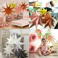 """12"""" 3D Angles Paper Star Hanging Christmas Lantern Home Party Xmas Craft Decor"""