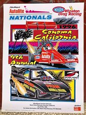 ORIGINAL 1996 NHRA AUTOLITE NATIONALS SEARS POINT OFFICIAL WINSTON RACING POSTER