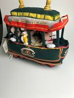 Walt Disney World Plush Trolley w/ Mickey Minnie Goofy Depot Main Street Plaza