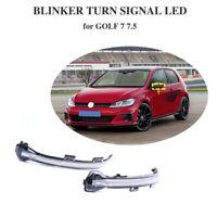 Yellow For VW Golf 7 MK7 Golf 7.5 MK7.5 Dynamic LED Turn Signal Mirror Light
