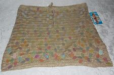 Rampage Knit Blouse Sexy Knitted Crochet Strapless Women Size S in Gold