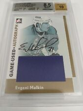 Evgeni Malkin 2005-06 ITG Heroes & Prospects Gold Relic Auto 1/1 BGS 8.5 NM-MT+