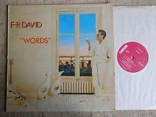 F.R. David – Words Etichetta: Carrere – CRE 25216 - LP