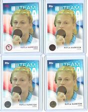 (4) 2016 TOPPS OLYMPIC KAYLA HARRISON CARD #9 LOT BASE BRONZE SILVER GOLD ~ QNTY