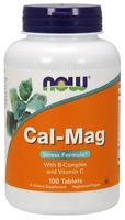 NOW FOODS Cal-Mag Stress Formula mit B-Komplex and Vit. C - 100 vegane Tabletten