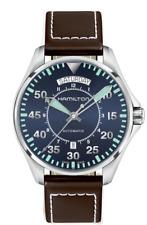 Hamilton Khaki Aviation Pilot Auto Blue Dial Leather Band Men's Watch H64615545