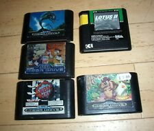 Bundle Job Lot Collection x5 Sega Megadrive PAL Games Ecco Taz NBA Lotus Disney