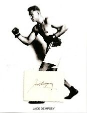 Jack Dempsey Autograph Boxing World Champion